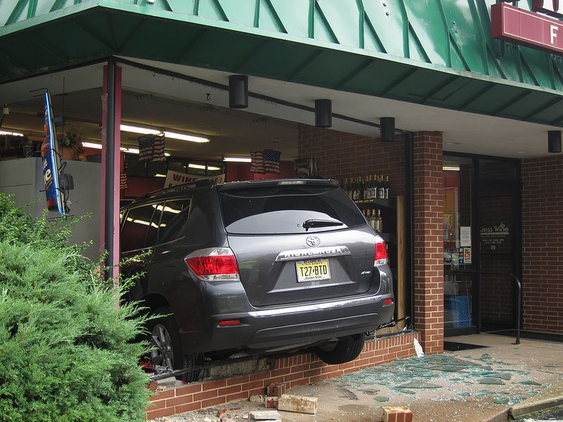 Car Crashed into an Establishment